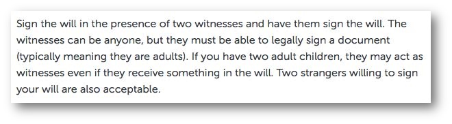 Write a Will online
